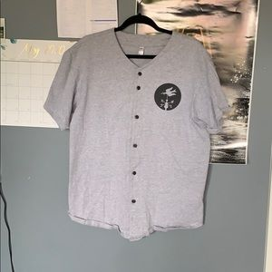 Silverstein Band Baseball button up T-Shirt